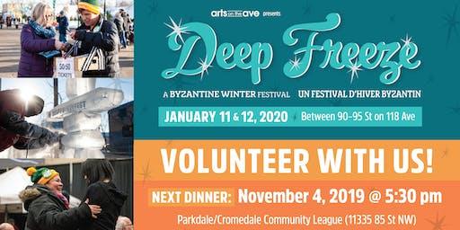 Taco Night: Deep Freeze Festival Volunteer Recruitment Dinner
