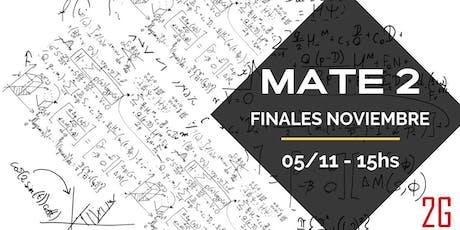 Matemáticas 2   Finales entradas