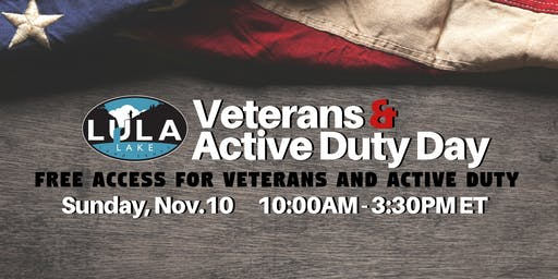 Veterans & Active Duty Day at Lula Lake