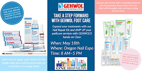 Take a step forward with GEHWOL Foot Care at the Oregon Nail Expo tickets