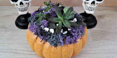 BrushTokes Plant Night - BUILD YOUR OWN HALLOWEEN THEMED SUCCULENT PUMPKIN PLANTER -  October 24, 2019 7:30-9:30 PM