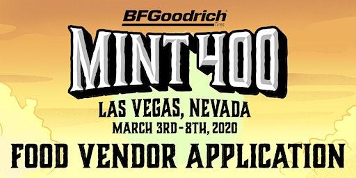 2020 Mint 400 Food Vendor Application