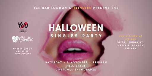 FREE PARTY: Halloween Singles Party by ICE BAR London & Blindlee