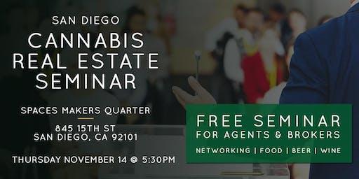 Free Seminar | Cannabis Real Estate in San Diego Nov. 14