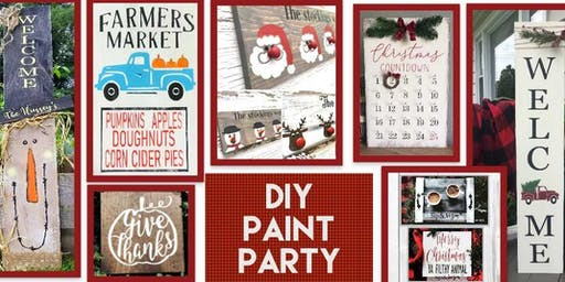Sip and Sign Open House DIY Paint Party