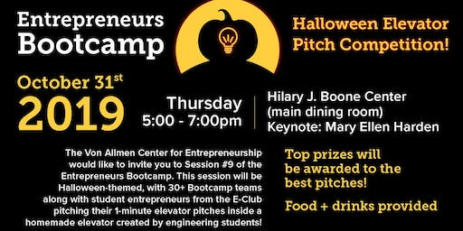 Entrepreneurs Bootcamp: Halloween Elevator Pitch Competition!