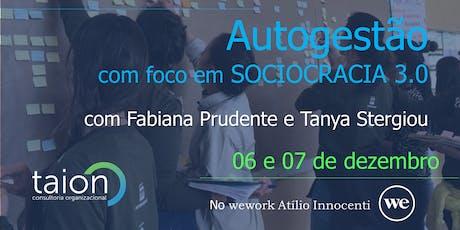 Workshop Autogestão com foco em Sociocracia 3.0 - SP ingressos
