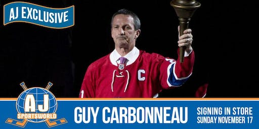 Guy Carbonneau In Store  Signing
