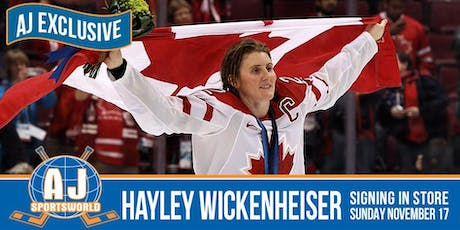 Hayley Wickenheiser In Store  Signing tickets
