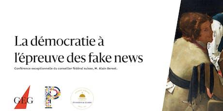La démocratie à l'épreuve des fake news tickets