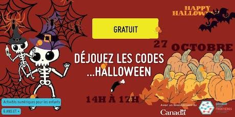 Déjouez les codes...Halloween billets