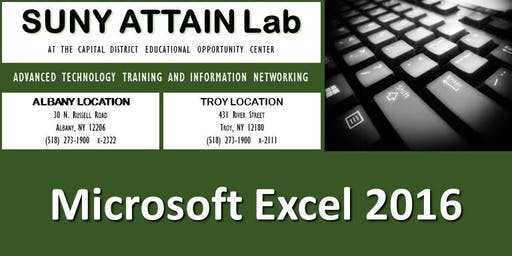 Microsoft Excel 2016 Training Series (Troy, NY)
