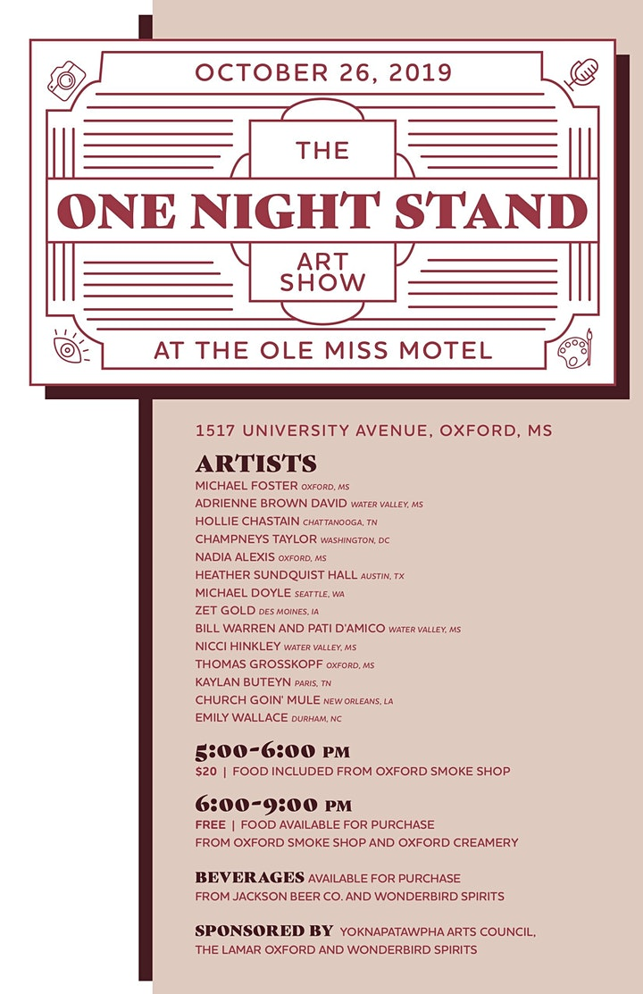 The One Night Stand at The Ole Miss Motel Art Show image