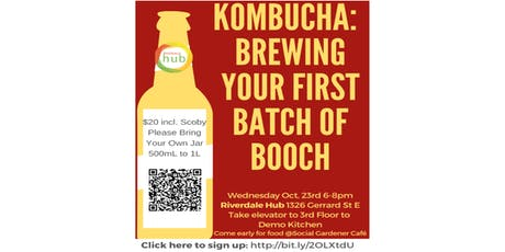 Kombucha: Making Your First Batch of Booch tickets