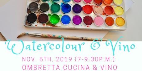 Watercolour & Vino at Ombretta Cucina tickets
