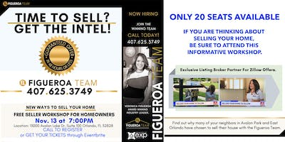 Time to Sell? - Get the Intel! - - Seller Workshop- -