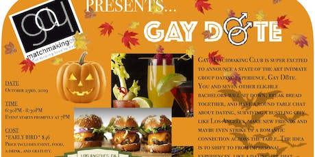 GMC's 2019 Fall Gay D8te - An Intimate Dating Conversational Experience. tickets