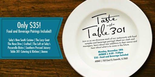 Taste of Table 301