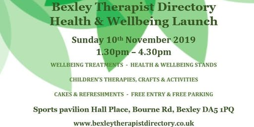 Bexley Therapist Directory  Health & Wellbeing Launch Event