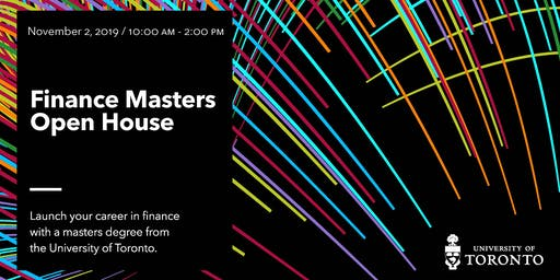 University of Toronto Finance Masters Open House (2019)