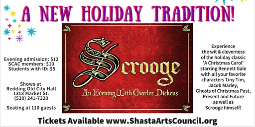 Scrooge, An Evening with Charles Dickens
