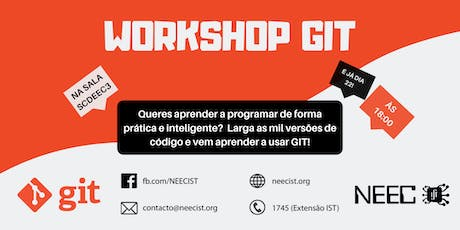 Workshop GIT NEECIST bilhetes