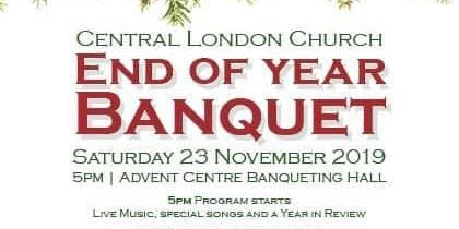 Central London Church's End of Year Banquet!