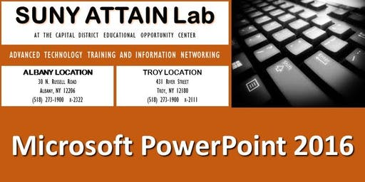 Microsoft PowerPoint 2016 Training Series (Troy, NY)