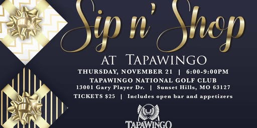 Sip n' Shop at Tapawingo National Golf Club