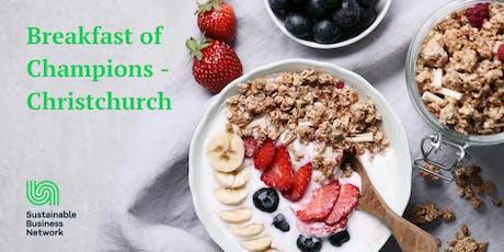 Breakfast of Champions - Christchurch tickets