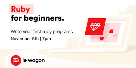 Ruby for Beginners tickets
