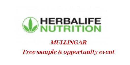 Herbalife Nutrition Mullingar Sample & Information evening