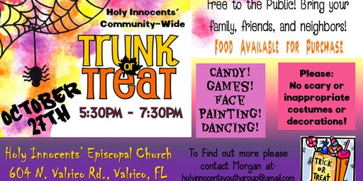 FREE Holy Innocents' Trunk-or-Treat