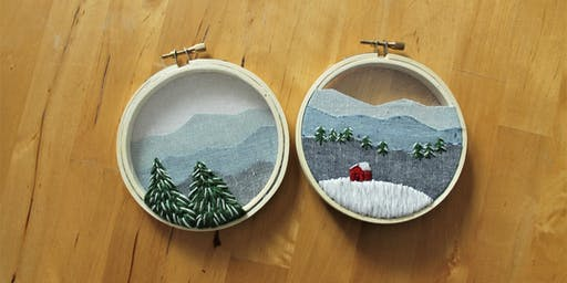Embroidered Winter Ornaments