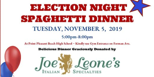 Point Pleasant Beach High School Election Night Spaghetti Dinner