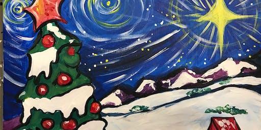 Starry Night Christmas Painting
