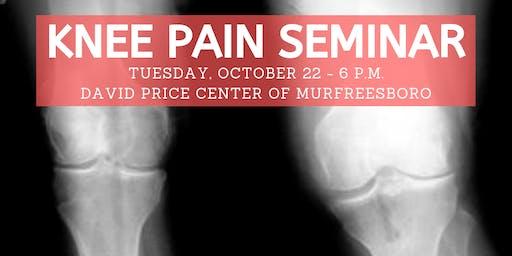 David Price Center KNEE Pain Seminar & Dinner - Oct. 22