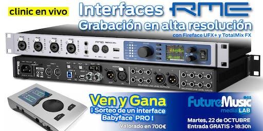 Interfaces RME: Grabación en alta resolución | FutureMusic media[LAB] Madrid