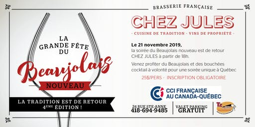 Beaujolais Nouveau 2019 - CHEZ JULES
