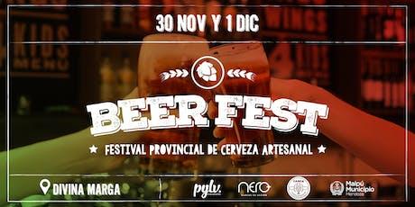 """""""Beer Fest"""" Festival Provincial de Cerveza Artesanal entradas"""