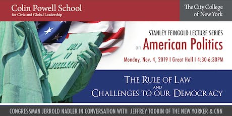 2nd ANNUAL  STANLEY FEINGOLD LECTURE SERIES  ON AMERICAN POLITICS tickets