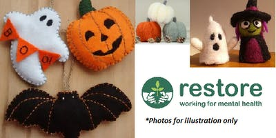 CUTE AND CREEPY FELT CRITTERS: RESTORE HALF TERM AT HALLOWEEN WORKSHOP