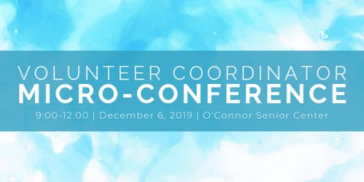 2019 Volunteer Coordinator Micro-Conference