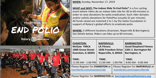 Indoor Ride To End Polio (NAPERVILLE)