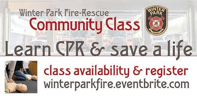 Learn CPR & Save a Life with Winter Park Fire-Rescue Department