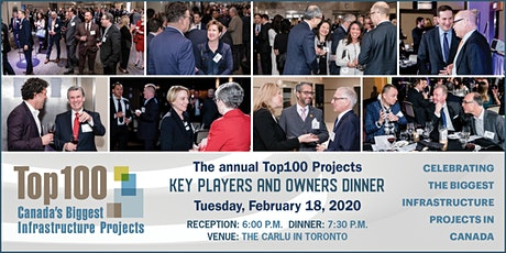 Top 100 Projects 2020 - Key Players and Owners Dinner tickets