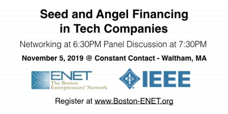 Seed and Angel Financing in Tech Companies #ENET2905 tickets