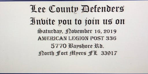 LEE COUNTY DEFENDERS LE/MC ANNUAL PARTY