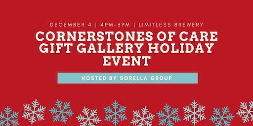 Cornerstones of Care Gift Gallery-Holiday Happy Hour