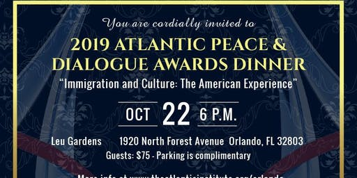 2019 ATLANTIC PEACE &  DIALOG AWARDS DINNER